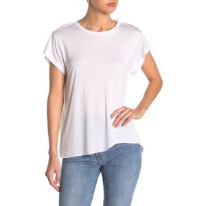 LNA Carter Bitten T-Shirt, Uneven Unfinished Hem